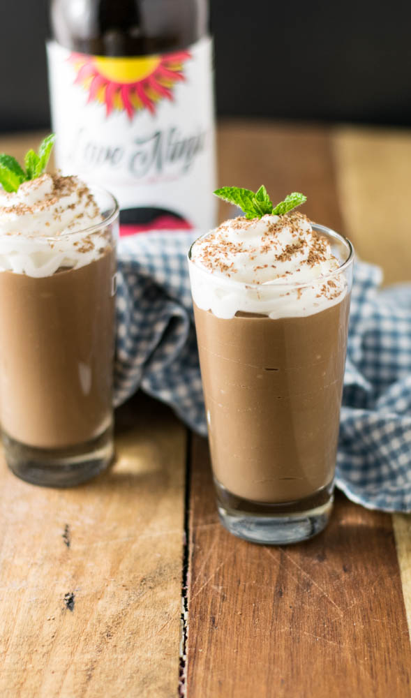 Raspberry Chocolate Milk Porter Pudding Shooters are a fun adult treat full of rich chocolate flavor and beer with a hint of raspberry surprise