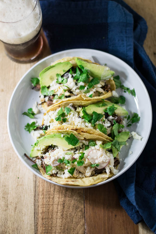 Slow Cooker Beer Braised Beef Brisket Tacos with Chipotle Slaw take a little time with the long slow braise, but are well worth the wait!