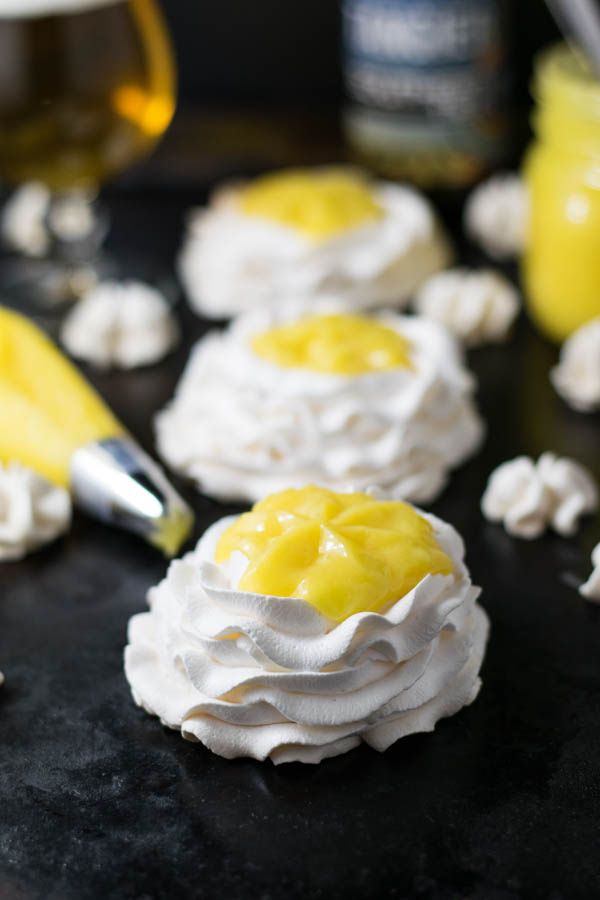Tangerine IPA and Meyer Lemon Curd Meringue Nests