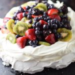 Blood Orange Gose Glazed Mixed Berry Pavlova