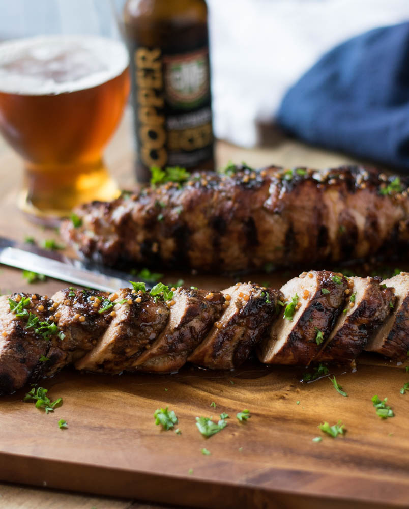 Beer Mustard Crusted Pork Loin