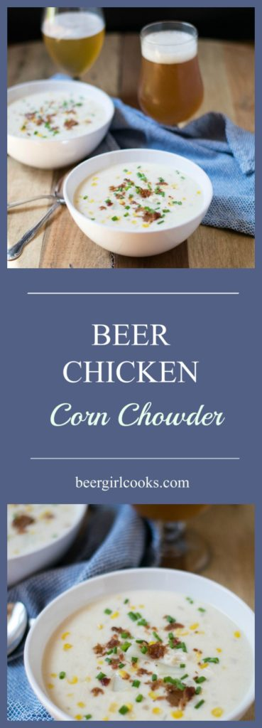 Beer Chicken Corn Chowder is and easy and delicious comfort food perfect to warm up on nights when the temperature is dropping.