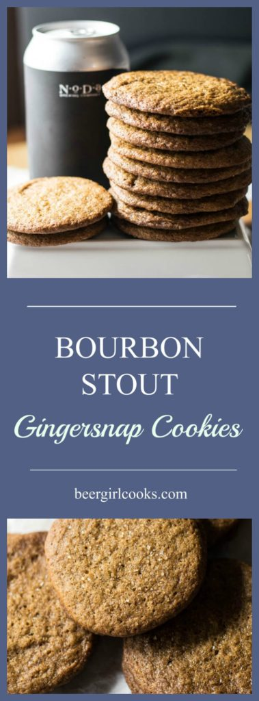 Russian Imperial Bourbon Aged Stout Gingersnap Cookies is a recipe filled with a perfect balance of spicy and sweet for an adult version of a winter treat.