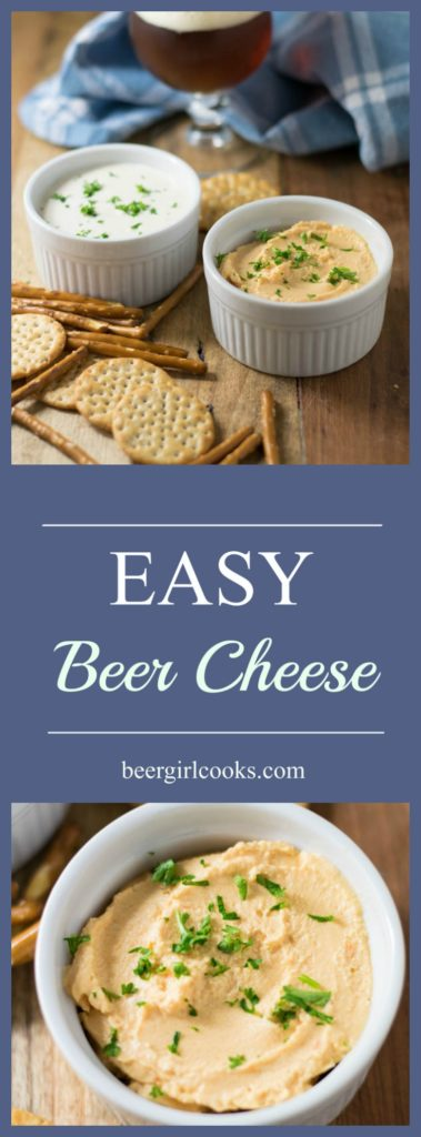 Easy Beer Cheese - Two Ways is so versatile you can make the original version or mix things up by using pimento cheese for a fun and delicious alternative.