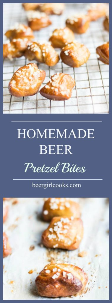 Homemade Beer Pretzel Bites Recipe is a super easy recipe and magically delicious. Make bite sized treats to serve as a snack or appetizer perfect for a tailgate party