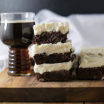 Smoked Porter Beer Brownies are so fudgy and delicious! They're super easy to make and have a hint of smokey flavor from a smoked porter beer. You can't go wrong by finishing with a topping of a decadent amount of cream cheese frosting.
